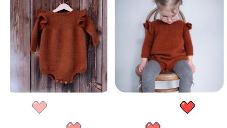 【爬爬裤】2.袖子和荷叶边编织 0基础编织教程新手妈妈入门编织