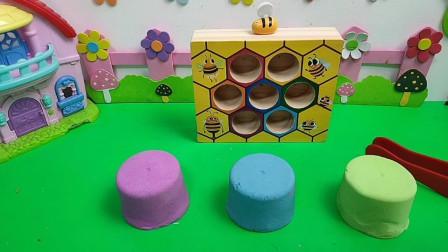 小蜜蜂都藏起来了,快来找一找吧!