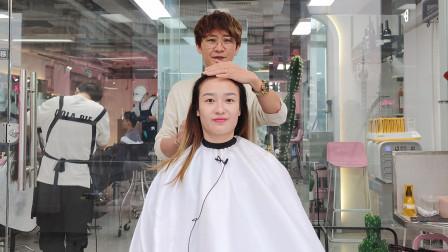 小姐姐理发店剪短发被说撞脸明星!