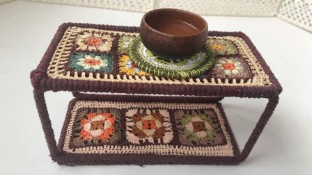 秀一秀我手工编织的茶台,收纳,美化空间好创意