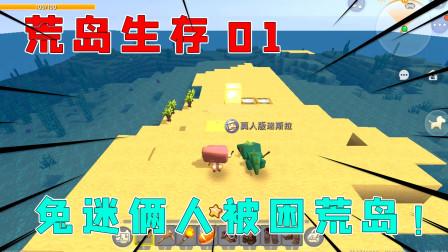 荒岛生存01:村庄被洪水淹没,兔美美和迷斯拉被困荒岛第一天