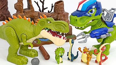 恐龙玩具故事:超精彩!恐龙战队是如何打败霸王龙获得胜利的?