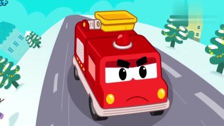 宝宝巴士少儿动画:圣诞节消防车出任务,保护小伙伴的圣诞礼物
