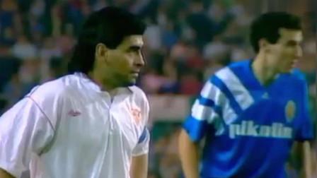 梅西敢称阿根廷球王?那是没看过马拉多纳踢球!3分50秒有彩蛋!