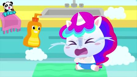 宝宝巴士:洗洁精不可以玩,很危险的!