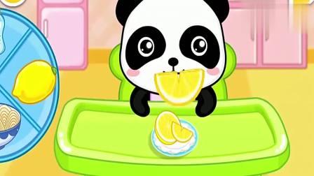 宝宝巴士:奇奇小宝宝吃米糊,吃成大花脸,快帮它擦一擦吧!