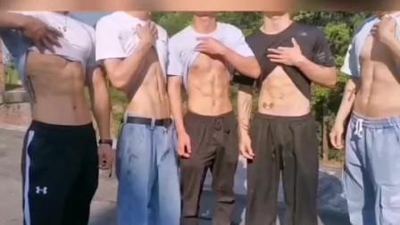 居然有5个腹肌小哥哥让我选择,可能这就是天堂吧