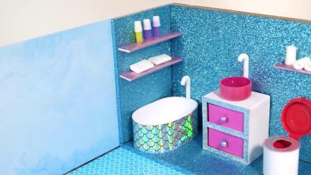 DIY手工:这么温馨的小卧室原来是用几张简易纸板做出来的