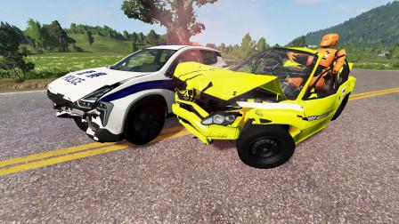 BeamNG:违规驾驶测试车上路,看我开警车拦截