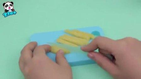 宝宝巴士,奇奇的这个薯条厉害了,一下就完成了,怎么那么快呢