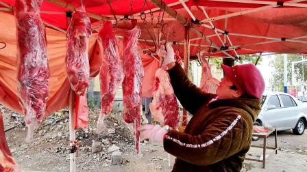 这里的牛骨头才2块钱一斤,可惜去晚了卖没了!