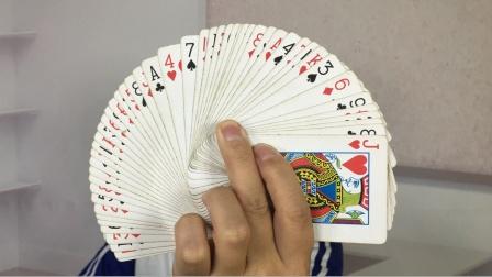 魔术揭秘:一秒钟记住54张牌的顺序,学会后骗朋友玩