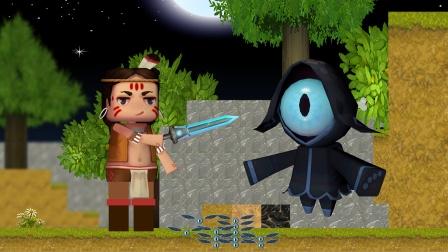 迷你世界动画:卡卡给地心人报信,获得地心之眼奖励