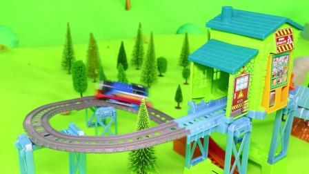 儿童玩具:一辆小汽车在路上冒烟了,消防员带齐装备出发灭火