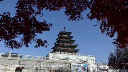 国立民俗博物馆 金秋红叶映蓝瓦 韩国首尔游