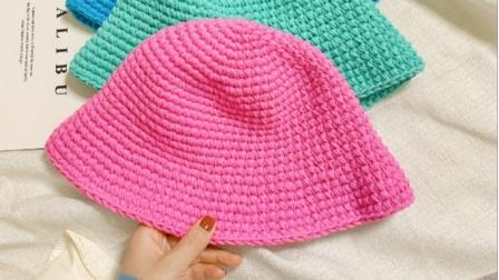 希妈手作 第300集 韩版渔夫帽泫雅同款手工毛线编织帽钩针教程