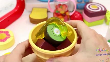 学习颜色水果和蛋糕与微波玩具