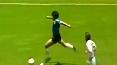 就凭这个进球,马拉多纳就能称球王