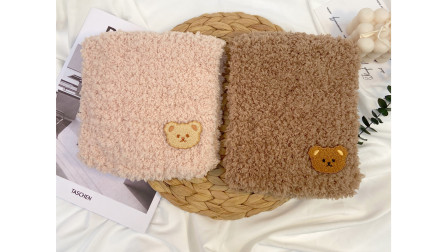 米粒麻麻手工-第124集-小熊围巾 diy围巾新手教程绒绒线围巾珊瑚绒