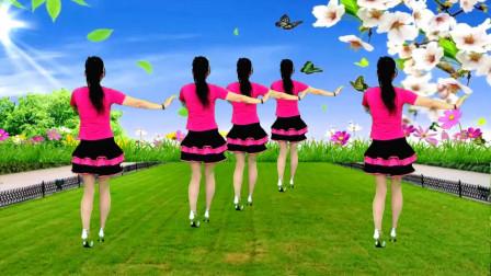广场舞《桃花情》歌曲甜蜜温馨,舞姿曼妙轻盈
