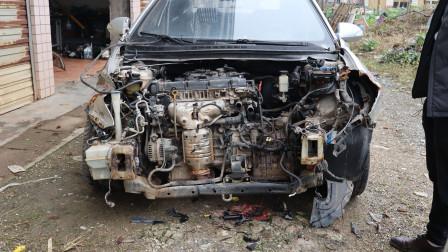 拆解悦动事故车,评估维修费用,看是否有维修价值
