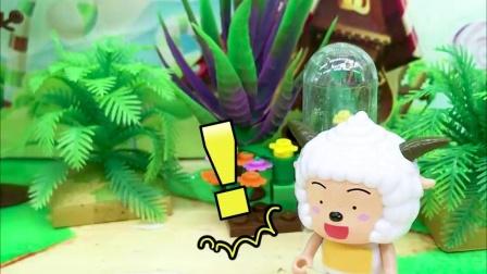 宝宝早教玩具:鳄鱼抢走懒羊羊的棒棒糖,喜羊羊帮他拿回来
