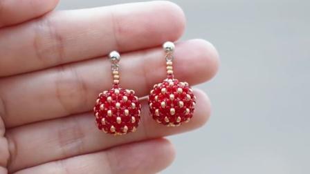 【布张扬手造】【资源分享】串珠莓子耳环视频教程(外文)