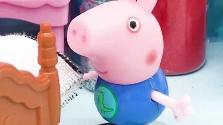 亲子有趣幼教动画:乔治给佩奇做饺子,可他不会做怎么办呢?