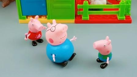 猪爸爸保护佩奇,乔治非要说姐姐是怪兽