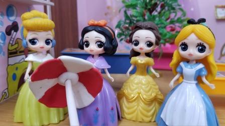 白雪公主故事 白雪说关于一的成语,谁说得越多就把伞借给谁哟