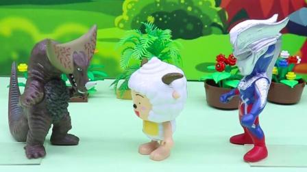亲子有趣幼教动画:装可怜的哥莫拉变成小兔子,赛罗会相信他吗?