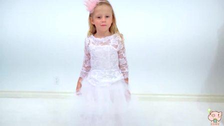 美国时尚儿童,小公主穿上了新衣服,真漂亮