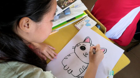 儋州市第二中学初一(8)班美术课学习剪影