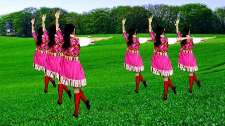 藏族民歌广场舞《格桑拉》歌曲大气悠扬,舞蹈优美易学