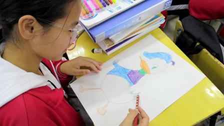 儋州市第二中学初一(7)班美术课学习剪影