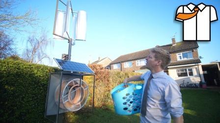 家中自制风力太阳能干衣机,新奇创意手工!