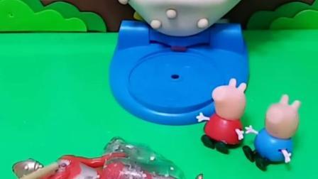 亲子有趣幼教玩具:奥特曼被怪兽黏住了
