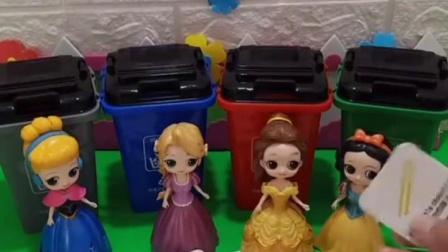 亲子有趣幼教玩具:小朋友你们会给垃圾分类吗