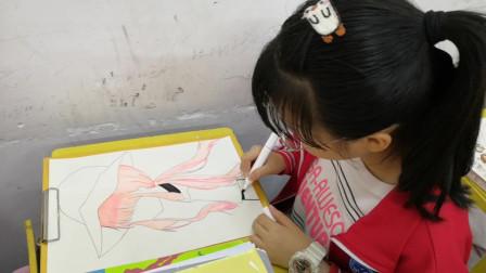 儋州市第二中学初一(2)班美术课学习剪影