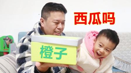 为什么指着橙子叫西瓜?2岁小孩水果开箱,父子俩抢着吃谁也不给