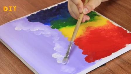 手工绘画教学,彩虹帆船的绘制方法,非常漂亮!