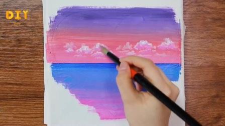 手工绘画教程,情人节里心形画的简单画法!