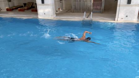 【游泳训练】短池4x100米自由泳2分钟包干