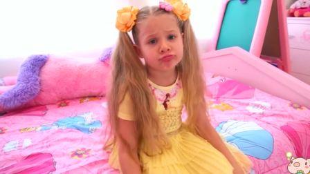 美国时尚儿童,小公主嘟嘟嘴的样子,太可爱了