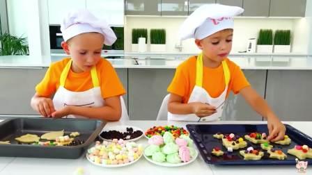 美国时尚儿童,萌宝兄弟扮演厨师,太厉害了