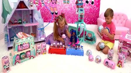 国外萌宝时尚:小女孩和小正太比赛玩玩具,真棒呀