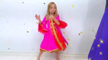 儿童亲子互动,小萝莉和朋友的泡泡滑梯,快来看看吧