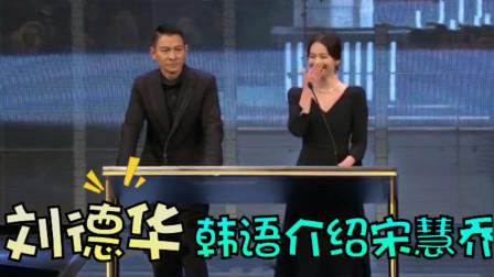 刘德华语言天赋有多强?用流利韩语介绍宋慧乔,惹得乔妹捂嘴大笑