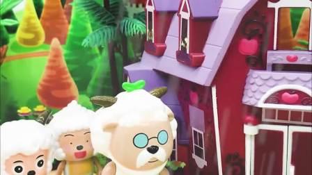 玩具早教宝宝益智:喜羊羊他们想去怪兽家躲雨,怪兽会同意吗?