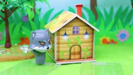 大灰狼欺负小松鼠们,贝儿帮忙种树想遮住房子,可没有红心能量了